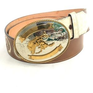 Tony Lama Women's Western Style Leather Belt_Sz 34